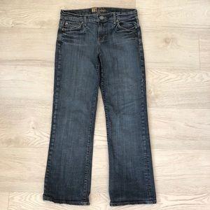 KUT from the Kloth Straight Leg BootCut Denim Jean